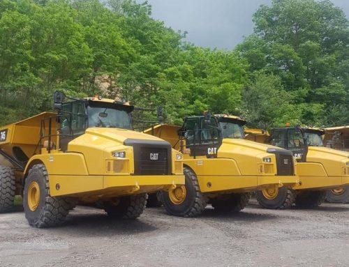 Drie nieuwe CAT dumpers voor Grandemar Roemenië